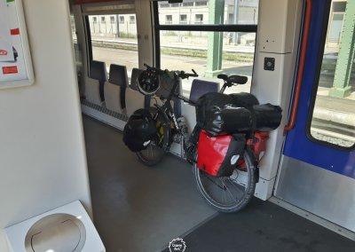 Über die Freude mit dem Fahrrad Zug zu fahren...