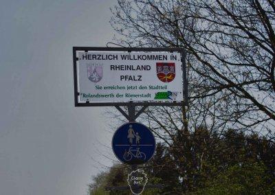 ... Wo ich das Erreichen der Grenze zu Rheinland-Pfalz  noch als Meilenstein festhalte...
