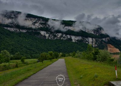 ...auf deren Radweg ich weiter Richtung Süden radle...
