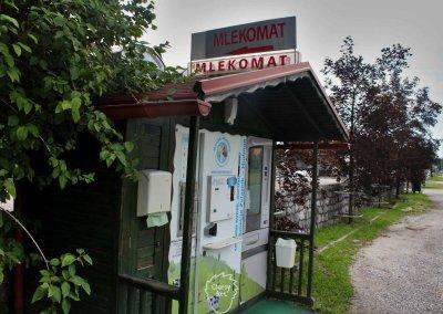 Weiteres Highlight im größtenteils ländlich geprägten Slowenien: Der Mlekomat...