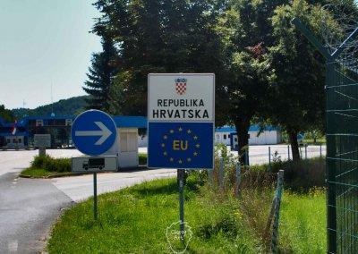Kroatien durchquere ich an dem ganz schmalen Teil zwischen Slowenien und Ungarn...