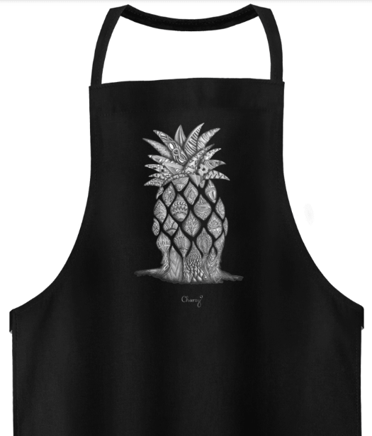 Schürze Ananas Schwarz-min