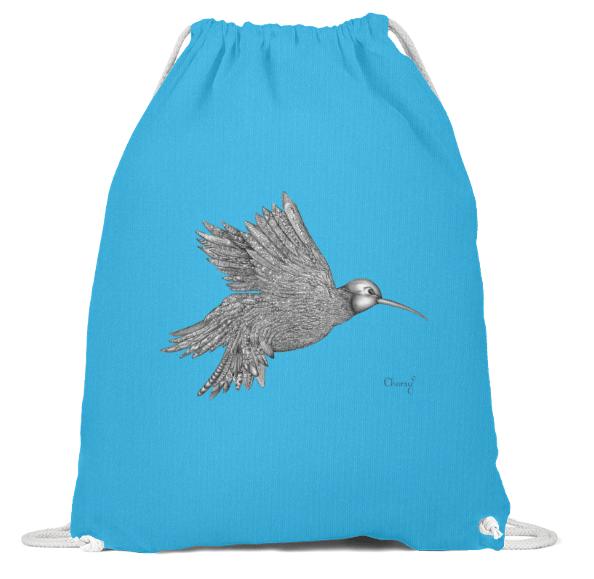 Turnbeutel Vogel Blau-min